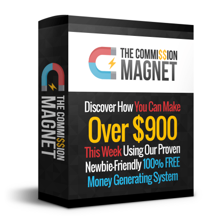 Commission Magnet Review – GET FAST ACTION BONUSES: The New-Friendly Method And 100% Free Money Generating System With Zero Internet Experience And Zero Tech Skills
