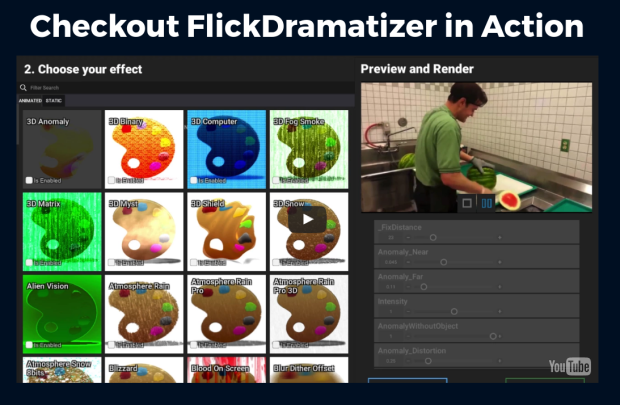 FlickDramatizer Review Turn Dull Videos And Images Into Visually Striking Blockbusters