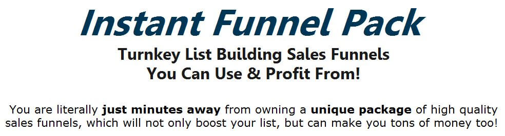 [PLR] 5 Instant List Building Sales Funnels Review – DON'T BUY IT BEFORE READING OUR REVIEW : A Completely Turnkey Solution Featuring Five Of The Most Profitable Internet Marketing Niches