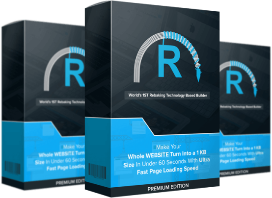 Rebake Premium Yearly Edition - Turn Your Websites Into Ultra Fast Loading SuperSites Review – GET FREE BONUSES : The World's 1st Rebaking Technology Based Website Builder Which Allows You To Make Your Whole Website Turn Into A 1 KB Size In Under 60 Seconds With Ultra Fast Page Loading Speed
