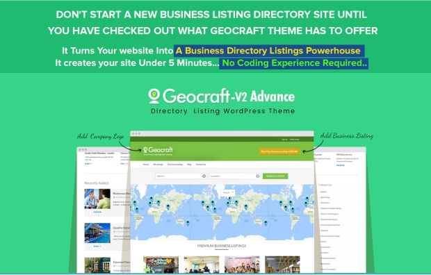 GeoCraft Directory WordPress Theme Review - IS IT REALLY WORTH TO TRY? : Get Into This Profitable Business And Start Your Business Directory Website That Generates High Recurring Passive Income