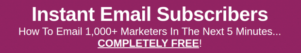 Nick James's Instant Email Subscribers Review – IS IT SCAM OR LEGIT? : The Quickest and Easiest Way To Build An Email List Of Literally Thousands Of Qualified Hungry Buyers
