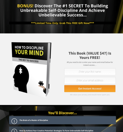 [PLR] Power of Discipline By Yu Shaun And Cally Lee Review – SHOULD YOU TAKE OR LEAVE IT? : Put Your Name As The Author, Sell As Your Own And Keep 100% Of The Profit – Starting Today!
